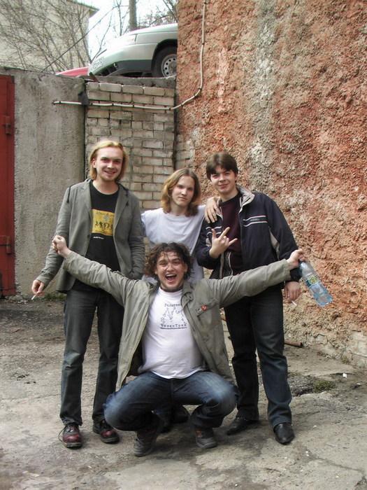 """...Горец с Тёмой и мы поехали на репетицию группы  """"Коктейль Молотова """"."""