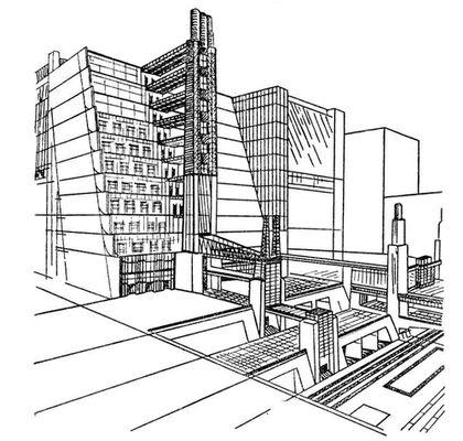 А.Сант-Элиа. Проект города будущего. 1914