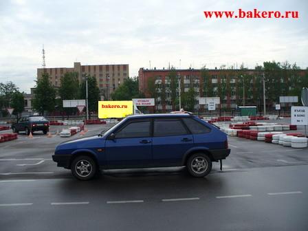 Инструктор ВАЗ-2109 на автодроме Мытищи