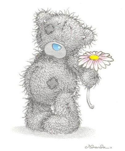 мишка с цветочком (406x488, 86Kb)