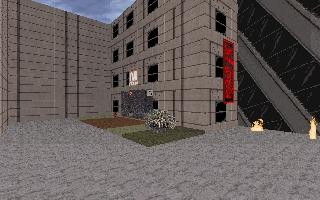 сыршенно невозможный город - обычный вход в подземку и падающие дома)