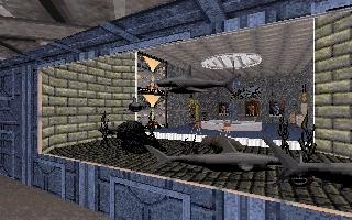 ...и через аквариум видны элементы ВИПклуба. хе, наверно я пытался показать социальное разделение)