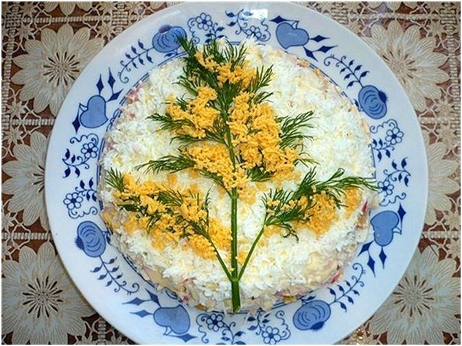 Украшения салатов и рецептами