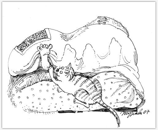 08 - цапать ноги спящих хозяев (515x423, 47Kb)