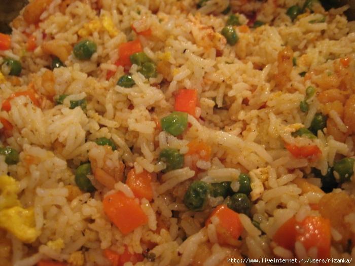 как приготовить рис с овощами по китайски