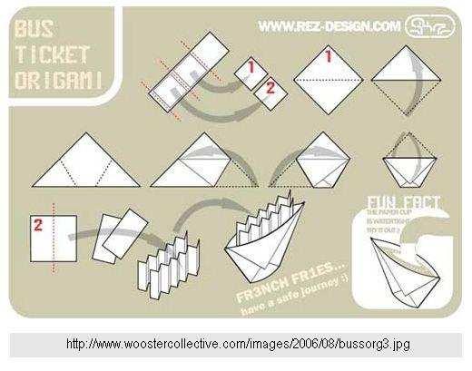 Кораблик оригами.