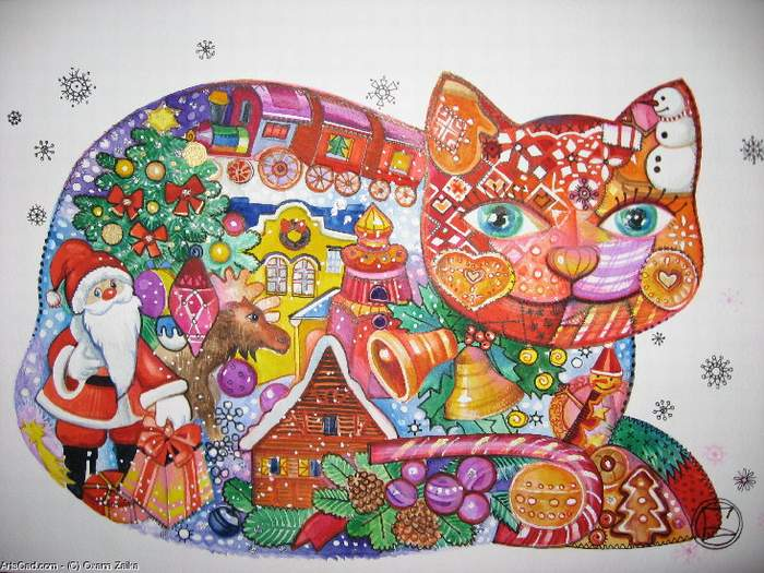 схема вышивания силуэт кошки