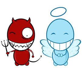 картинки ангел и демон на плечах