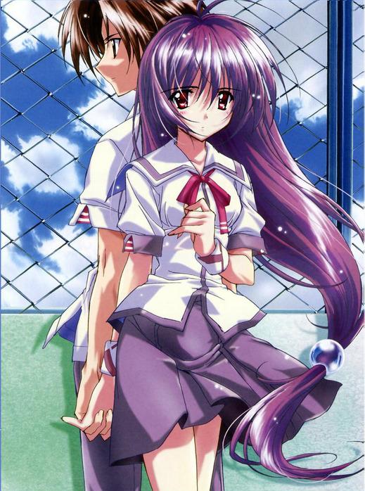 аниме девушки с фиолетовыми волосами: