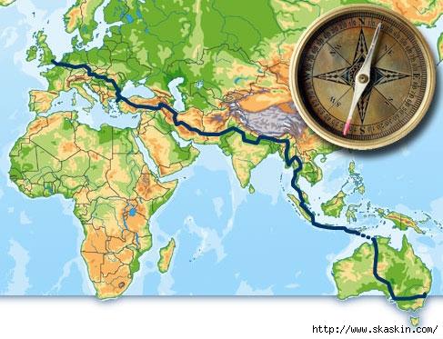 ...полосу пересекающую карту по диагонали? посмотрите как она разграничивает территории. север-юг? нет запад-восток.