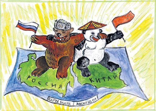 Дети рисуют Медведева (500x356, 54Kb)