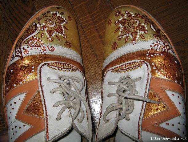 обувь роспись акрилом