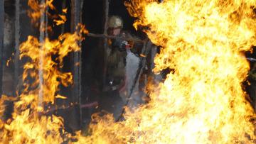 Пожар в здании на территории МАИ