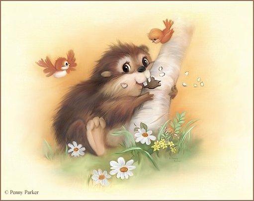 Открытки для детей с животными 5