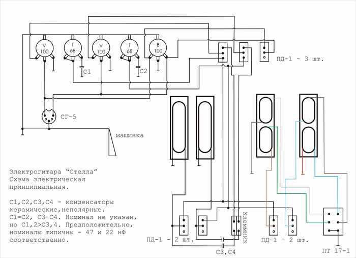 Комментарии к схеме.  Как работает регулятор громкости и тембра - и так...