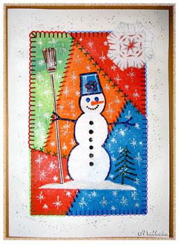 Новогодняя открытка  для детей 8 лет