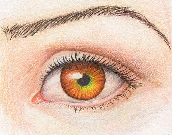 Картинки нарисованные глаза девушки