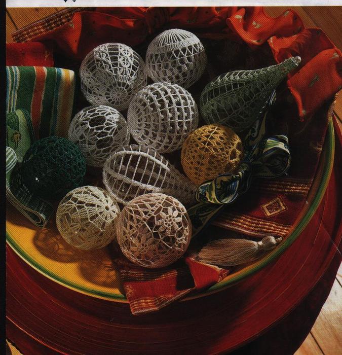 Елочные игрушки шары своими руками фото