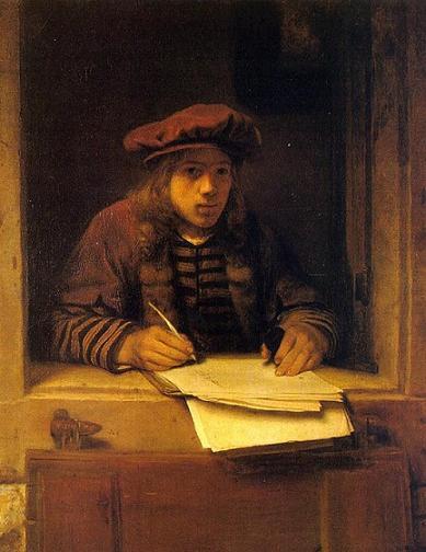 Самюэль ван Хогстратен Автопортрет сж (389x504, 33Kb)