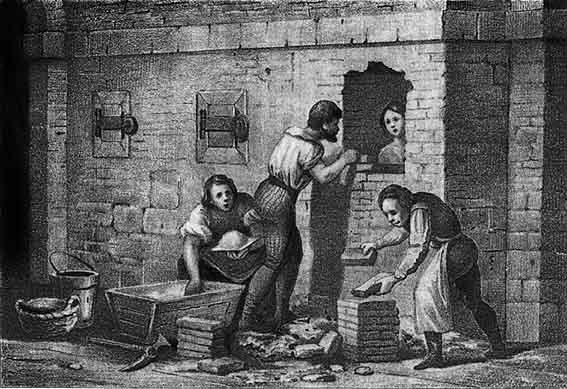 Замуровывание в стену.  Пожизненное заключение в тюрьме инквизиции.