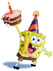 картинки спанч боб с днем рождения