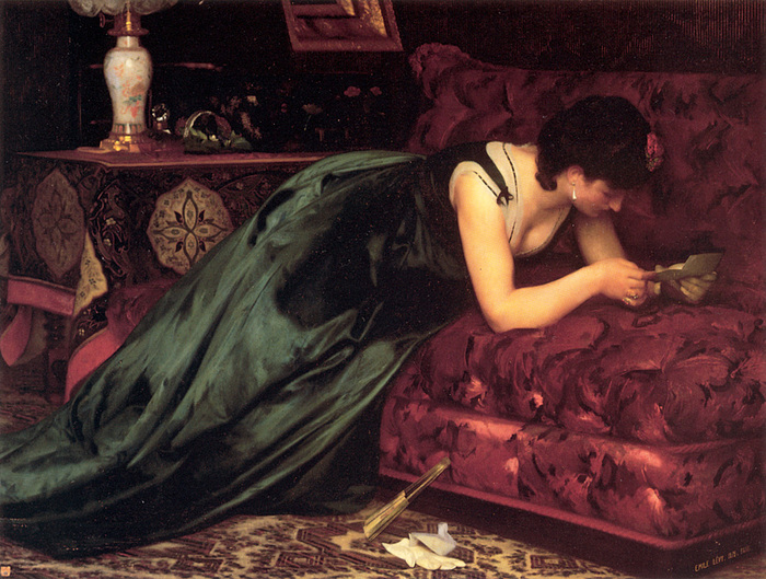 Emile Levy (1826-1890)_The_Love_Letter (700x529, 196Kb)