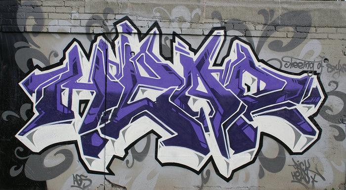 Буквы граффити карандашом на бумаге алфавит
