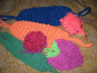 Вязание мочалок крючком с вытянутыми петлями Уют и тепло 9