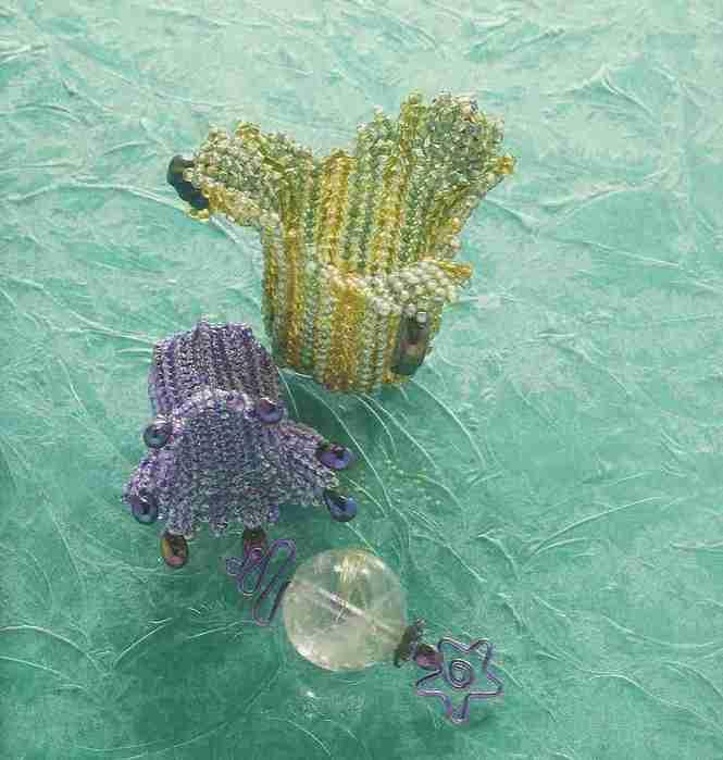 схема плетения цветка колокольчика из бисера - Ппланета схем.