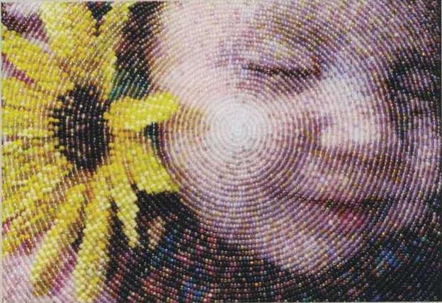 Вышитые бисером картины Эми Кларк Мур.  Вышивка бисером картин.