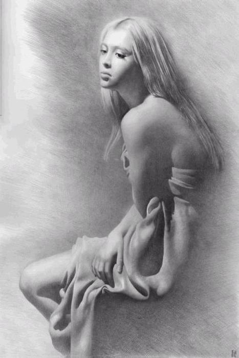 рисунки карандашом голых женщин: