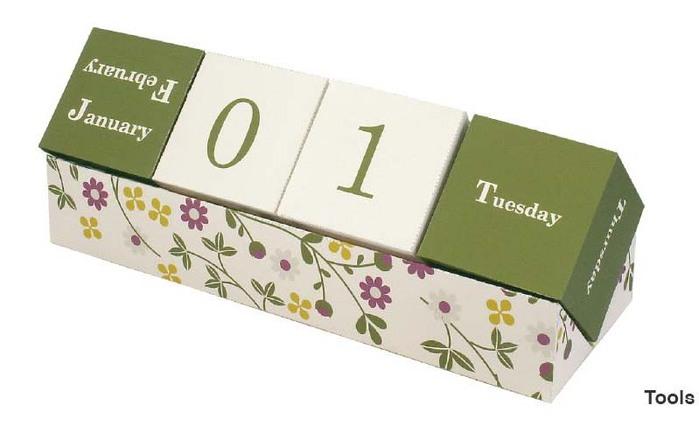 Как сделать вечный календарь из бумаги
