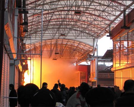 Пожар на рынке Барабашова