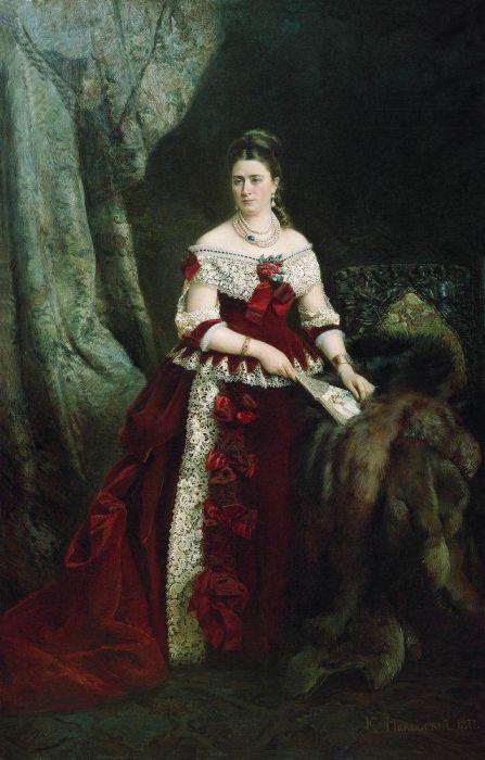 96. 0. Портрет графини Веры Сергеевны Зубовой.  1877.