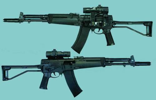 """Созанный в рамках армейского конкурса  """"Абакан """" на замену АК-74, этот двухтемповый автомат с о  """"смещенным (задержанным)..."""