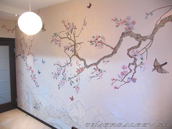 Роспись в кухне. Японский мотив