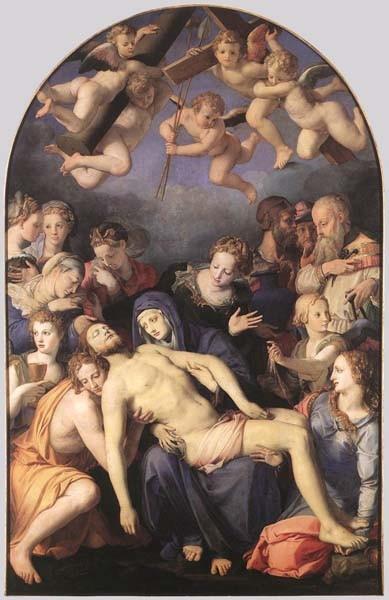 Bronzino Deposition of Christ, Artist: Bronzino, Agnolo.