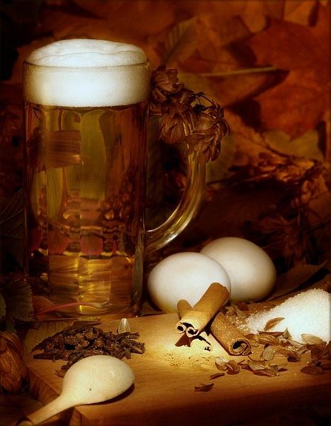 Козёл пьёт пиво