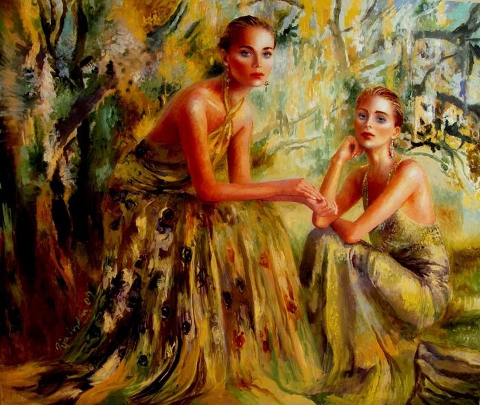 Опираясь на творчество таких художников, как Вермеер, Дега и Сархент, Джоанна выражает в картинах свою страсть к.