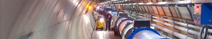 Туннель Коллайдера. Видите там живого человека? Пока еще живого…