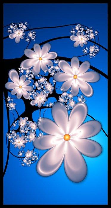 Анимационные картинки цветы бабочки 7