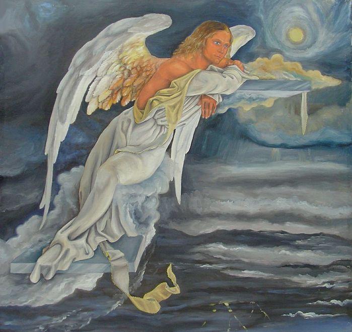 Ангел, слушающий музыку