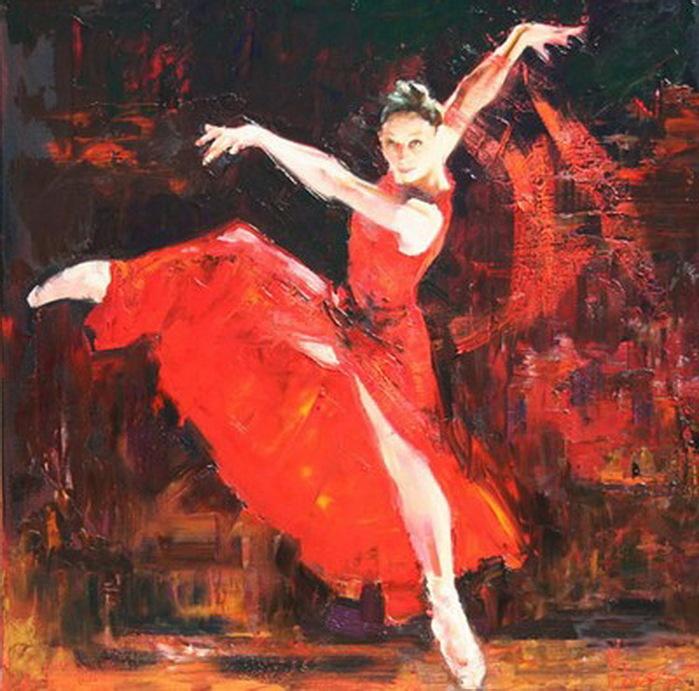 ребенок картина танцовщица в красном поэтому, многие