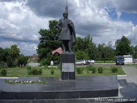 Памятник Пушкину. Луховицы