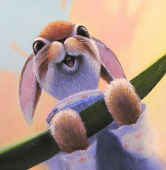 Рисунок Животные Зайцы.