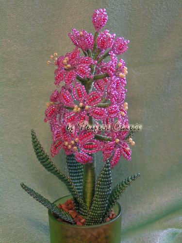 Рубрика Бисероплетение Метки beadwork, flowers, hyacinth, бисероплетение, гиацинт. бисер, схема, кошелек.