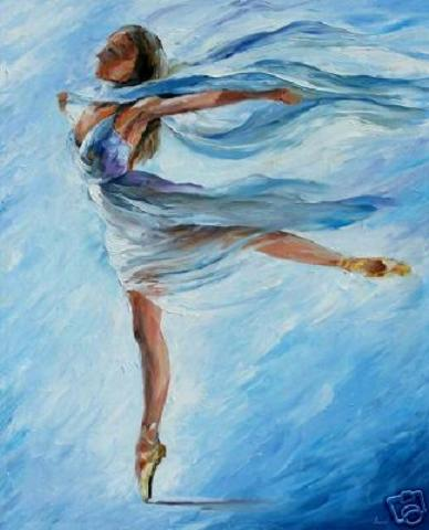 Leonid Afremov Paintings Dancer.