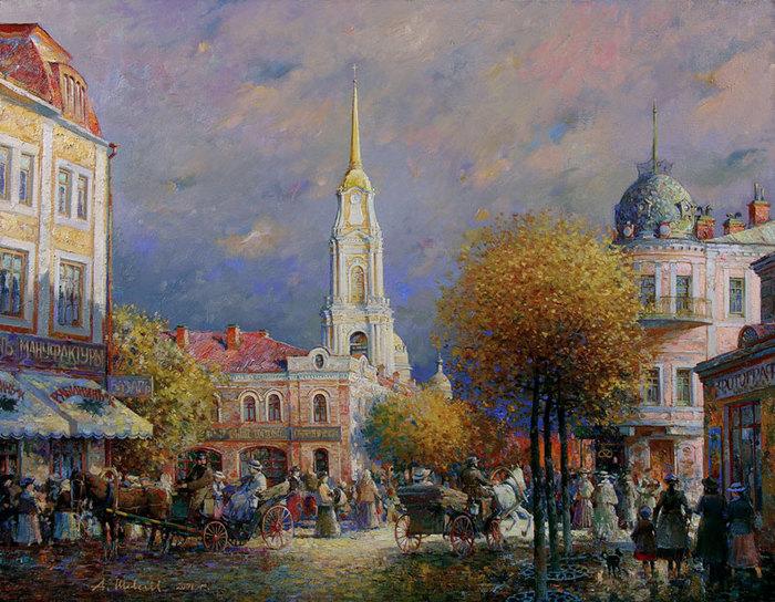 Пейзаж городской пейзаж натюрморт