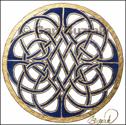 Схема узора соты кельтские узоры