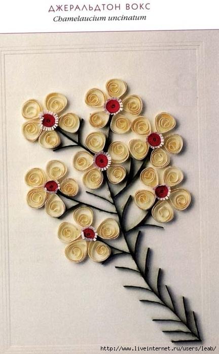 Квиллинг для открыток Схемы цветов.